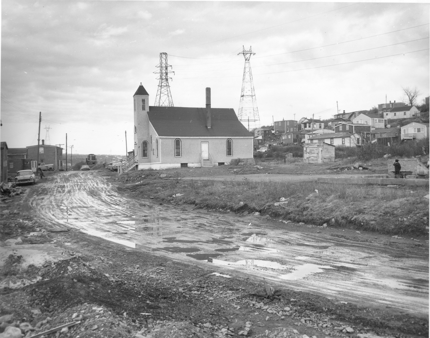 Black and white photo of Seaview Baptist Church