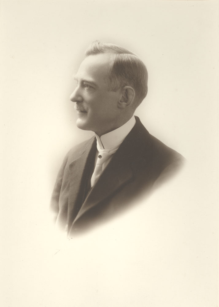 Black and white portrait of Deputy Mayor Henry Colwell, January 1917