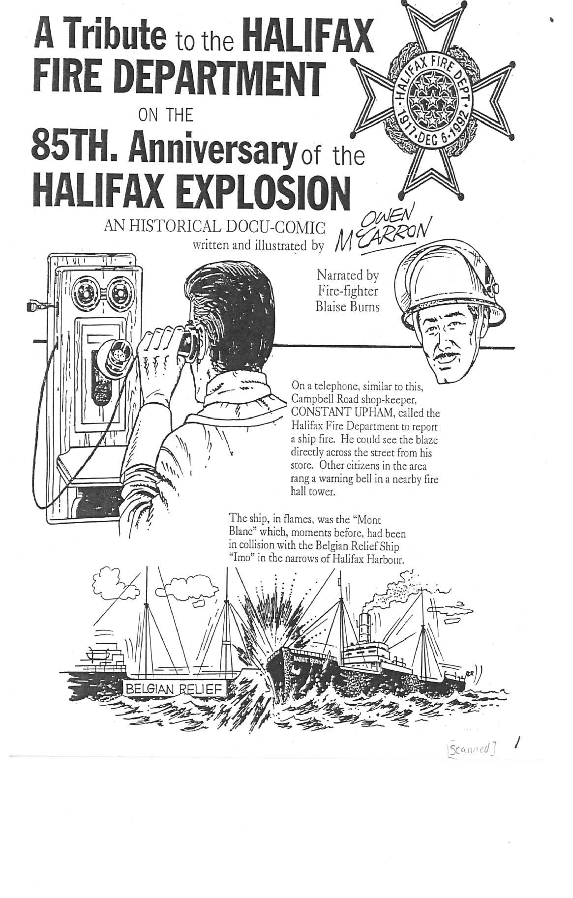 A Tribute to the Halifax Fire Department on the 85th Anniversary of the Halifax Explosion