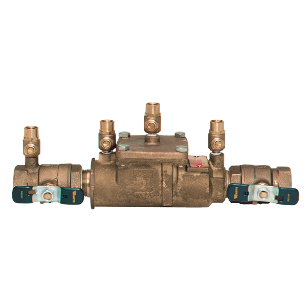 Double Check Valve Assembly (DCVA) backflow prevention device - moderate degree of hazard