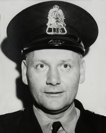 Photo of Constable Roy Jennex wearing a Halifax Police Department forage cap