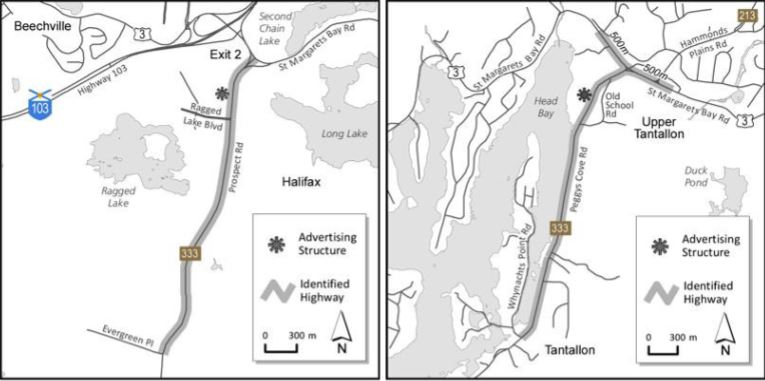 Nova Scotia Highway Directional Signage Map