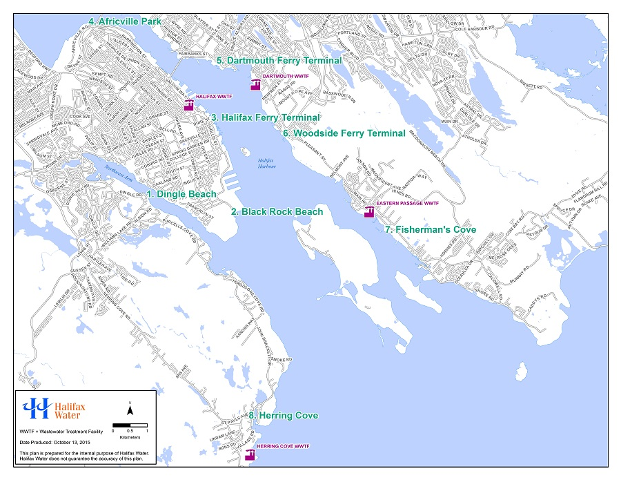 Seasonal Disinifection sampling sites