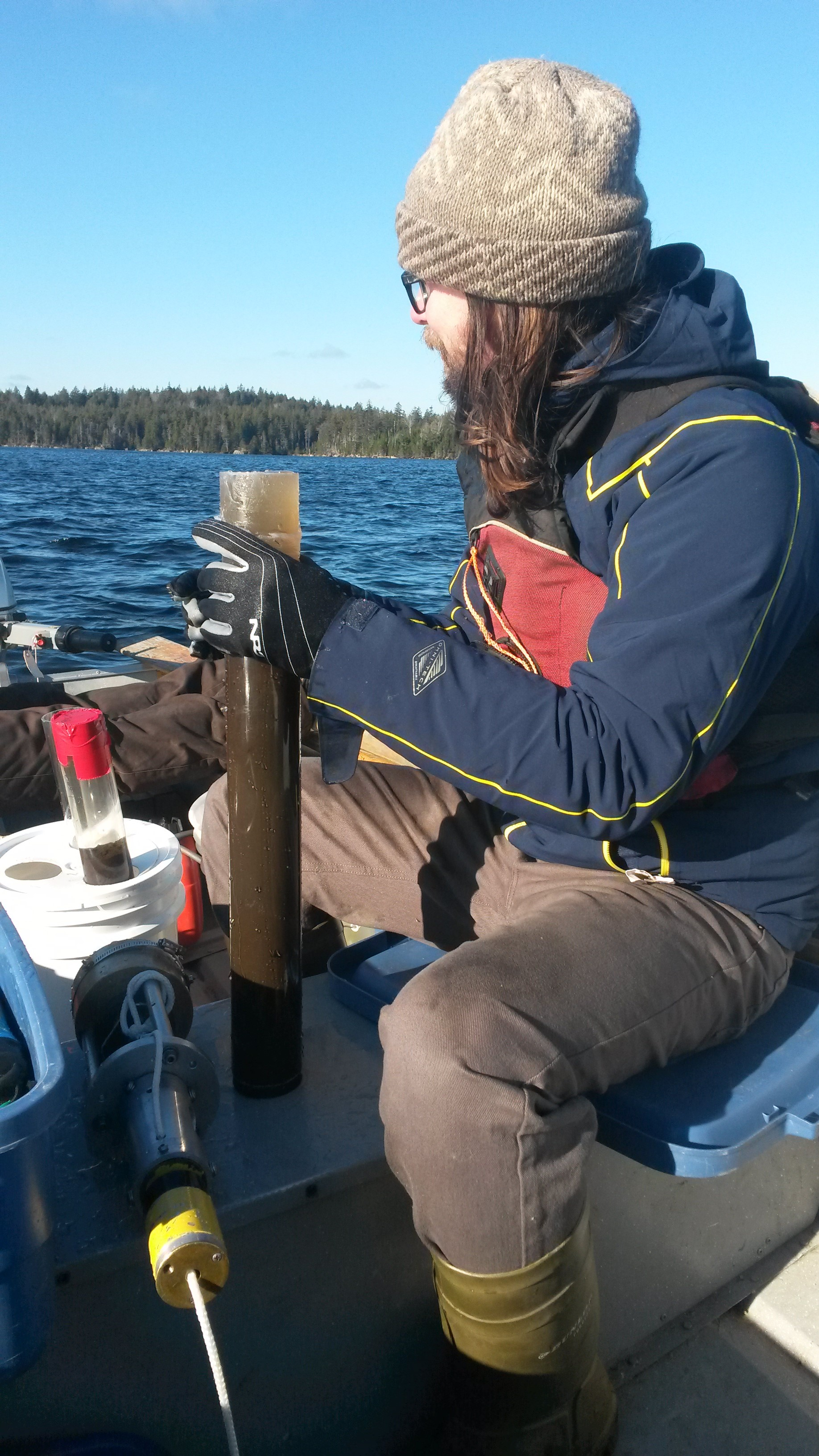 Water sampling at Lake Major