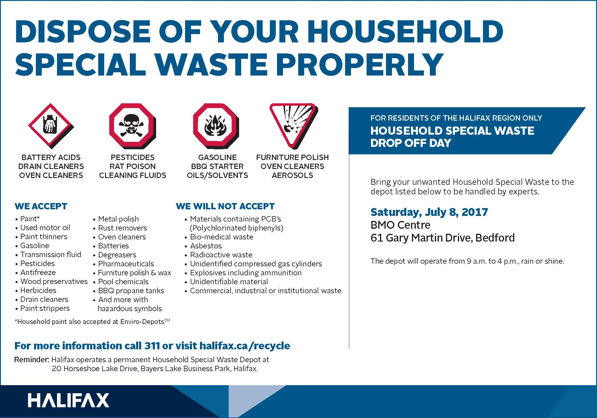 Mobile Special Waste Depot Event – Bedford - July 8