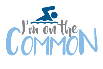 i'm on the common with swimming person graphic