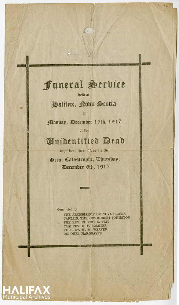 Colour image of cover of funeral program