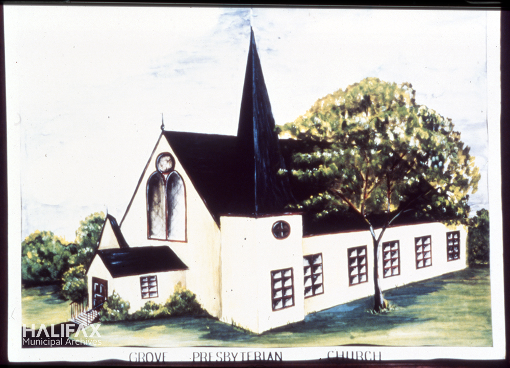Colour image of a church