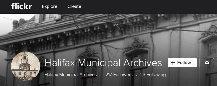 Screen capture of Halifax Municipal Archives Flickr Album