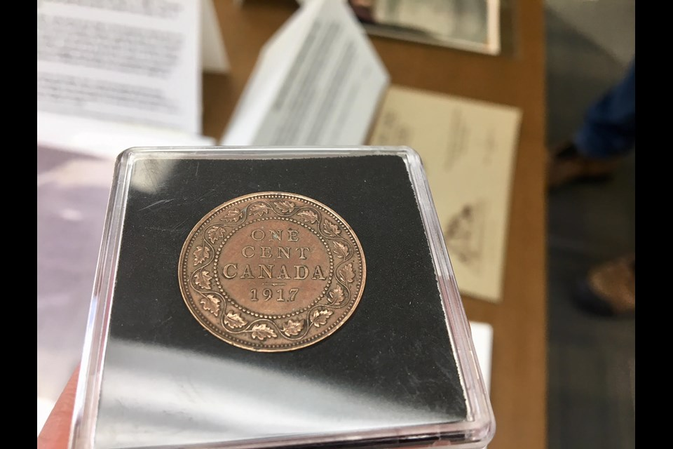 Colour photo of 1917 penny