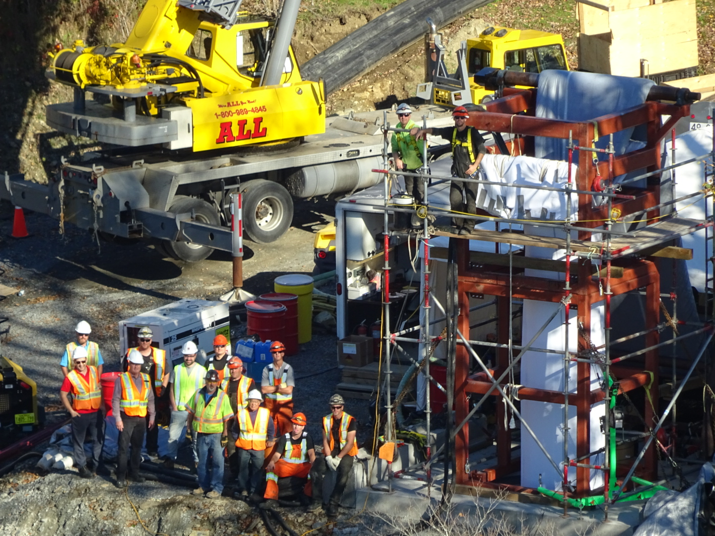 Crews of the Underground Overhaul sewer rehabilitation project