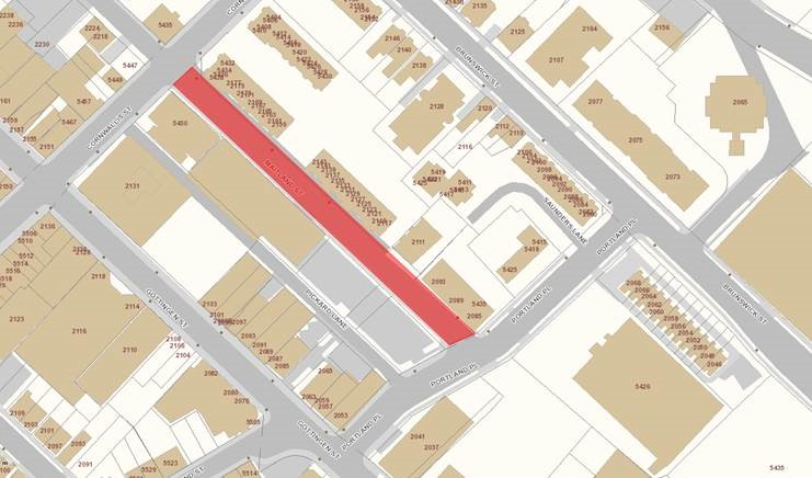 Maitland Street Water Main Replacement Area Map