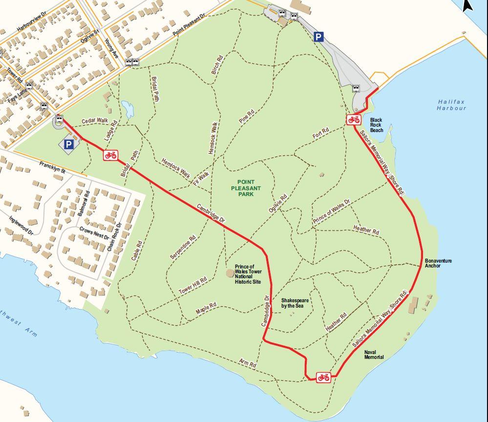 Point Pleasant Park Map Point Pleasant Park permanent weekend bike access | Halifax