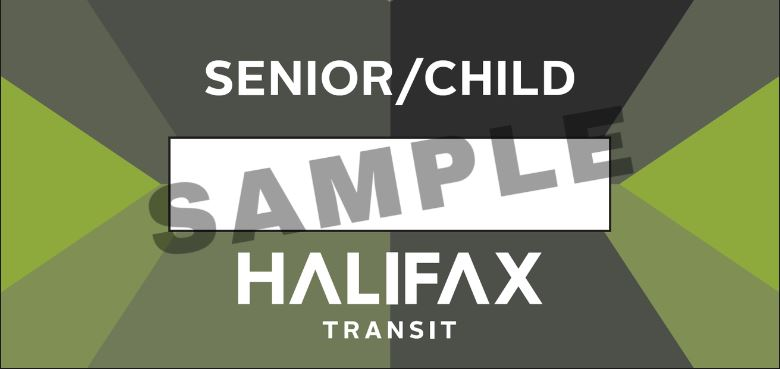 Senior/Child Ticket Sample