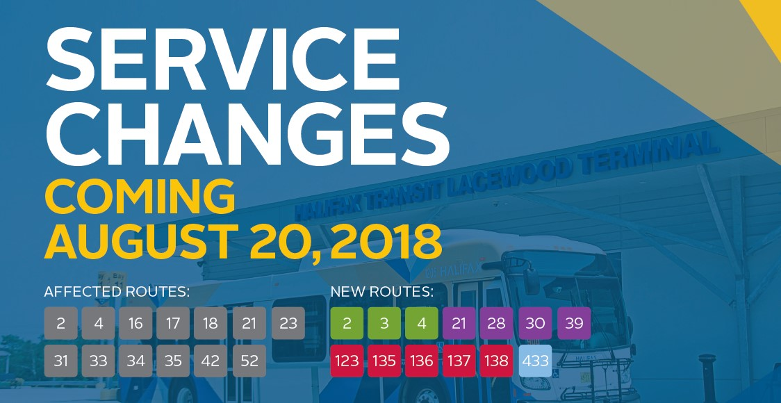 Service Changes coming August 20 - diagram of upcoming changes to service routes