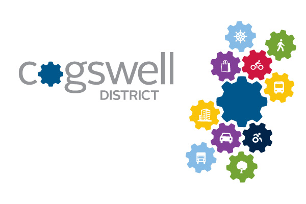 Cogswell District visual identity
