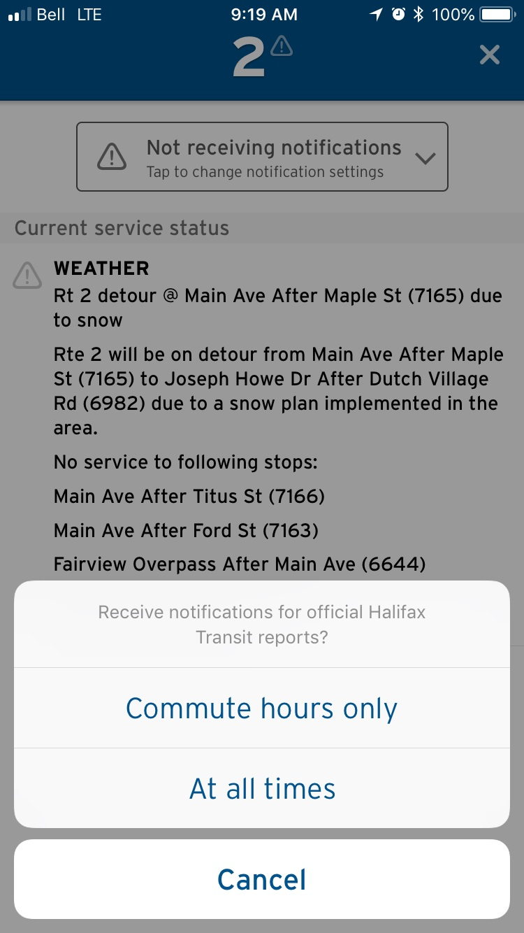 Setting up notifications for service alerts.