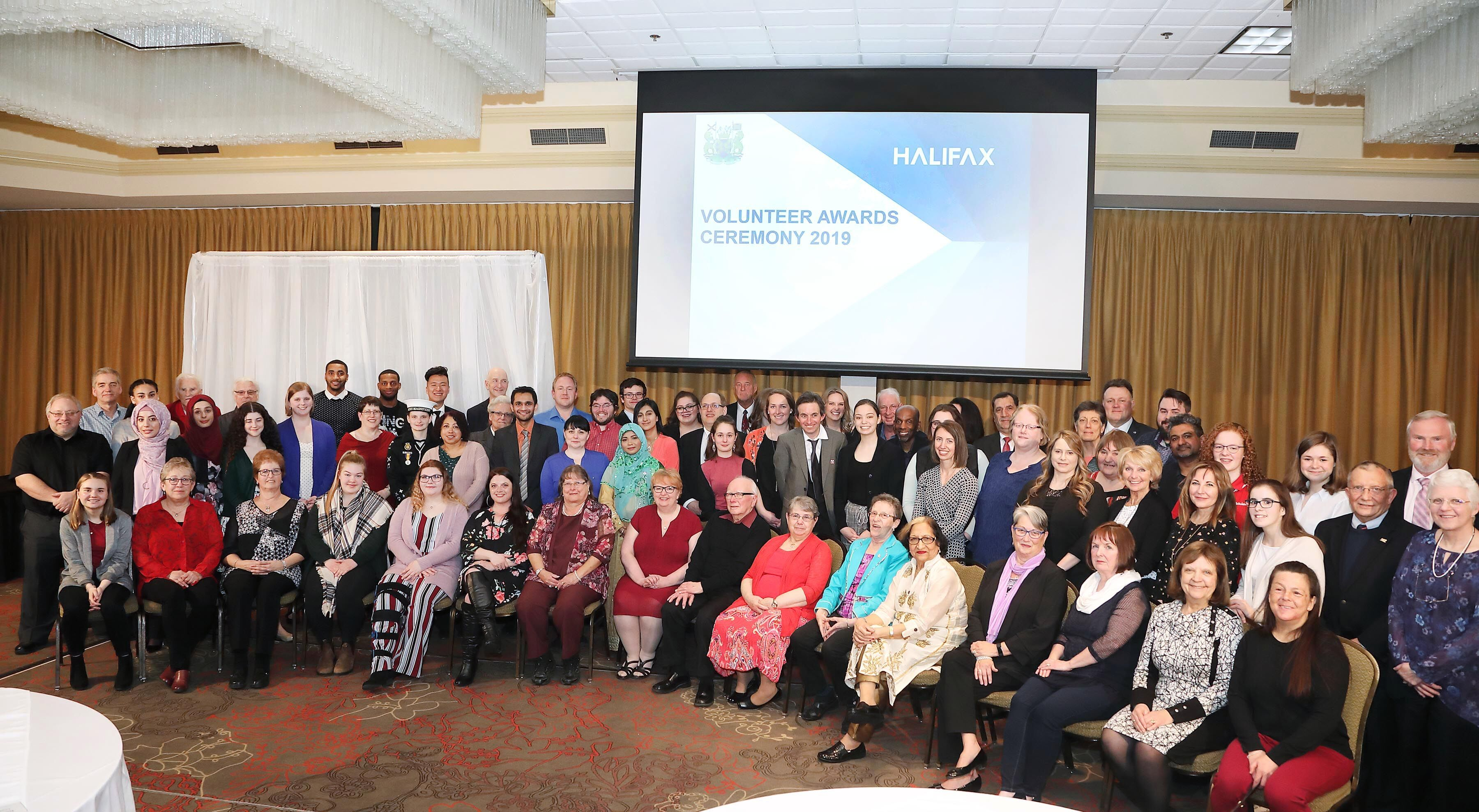 A group photo of the 2019 Volunteer Award winners