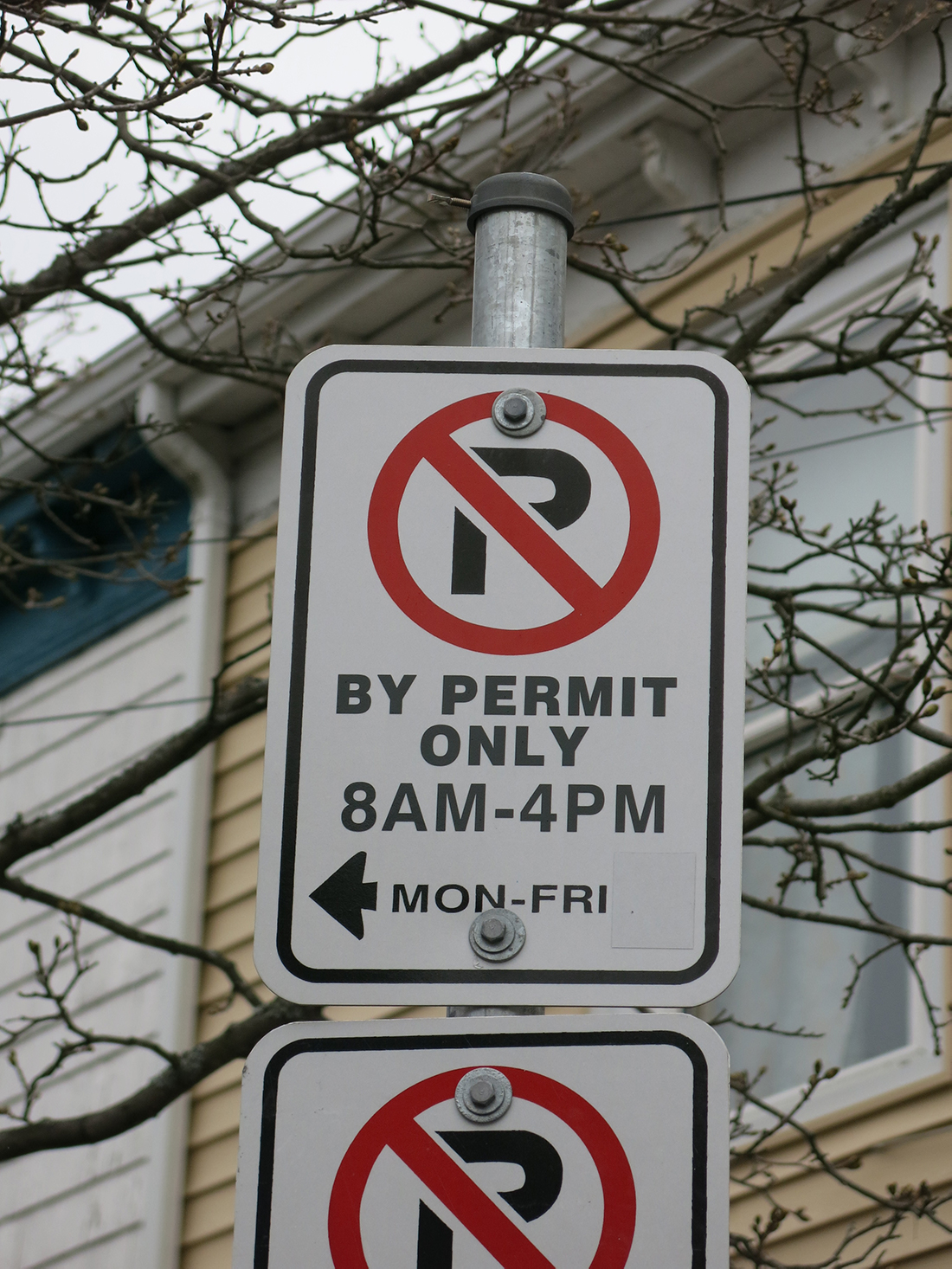 A photo of a no parking sign in Halifax