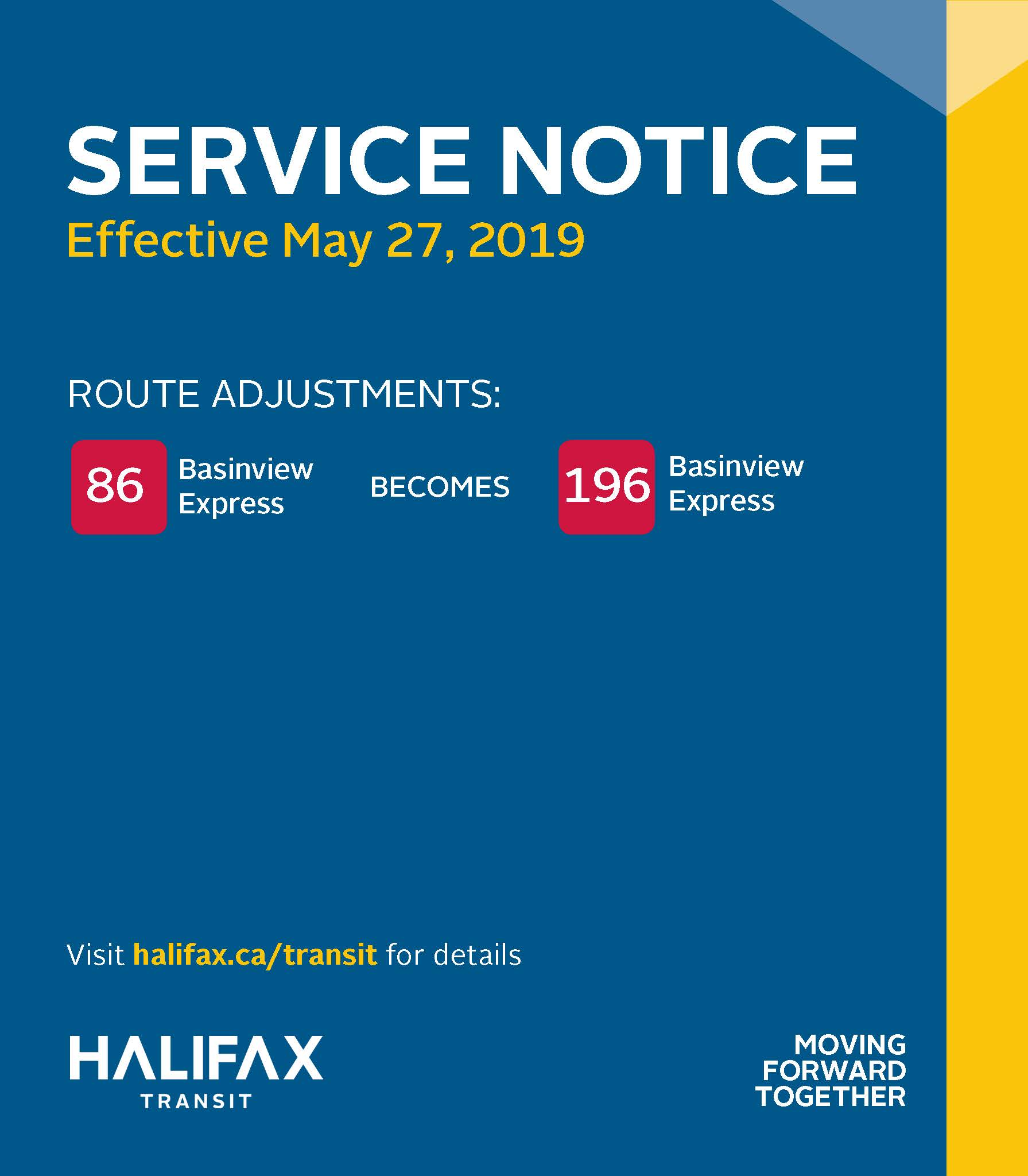 Service Changes coming May 27 - diagram of upcoming changes to service routes
