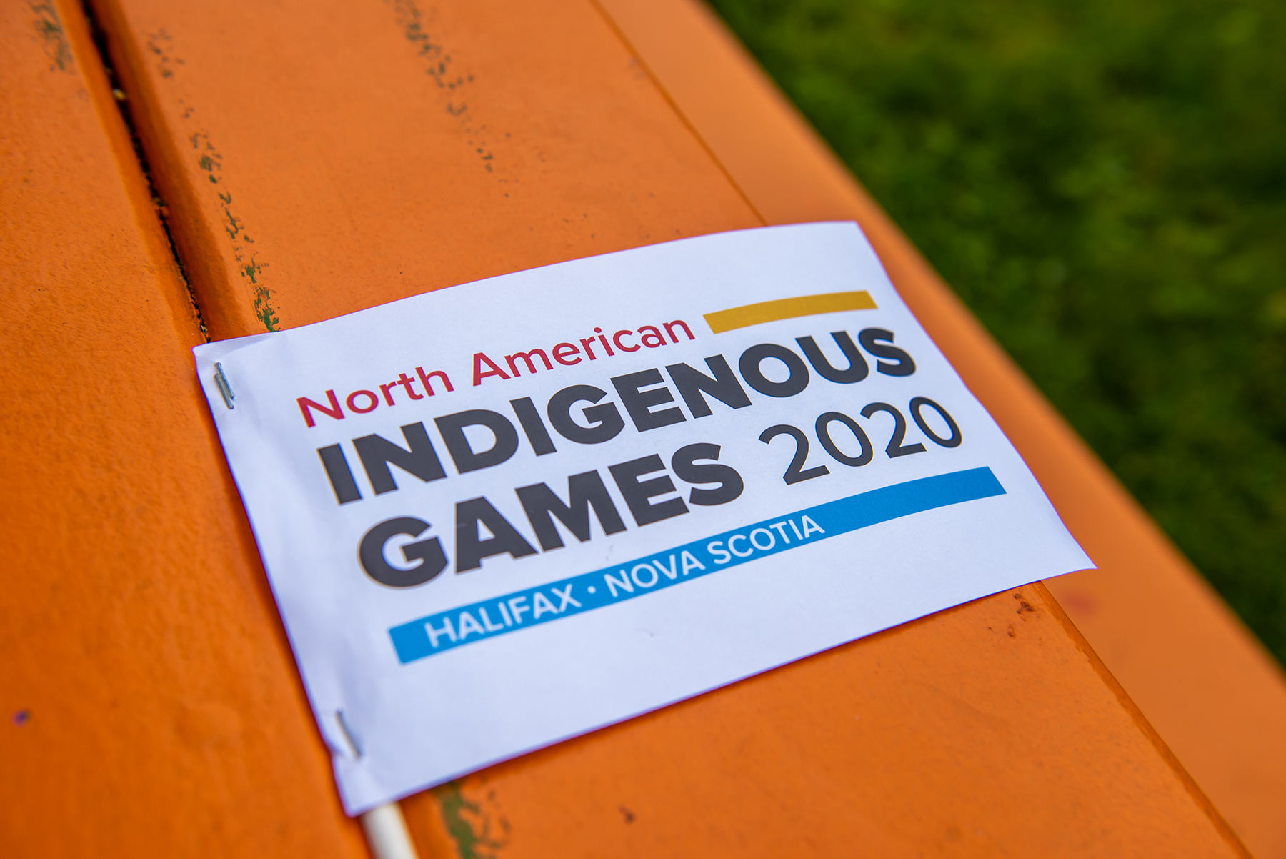 A photo of the North American Indigenous Games logo