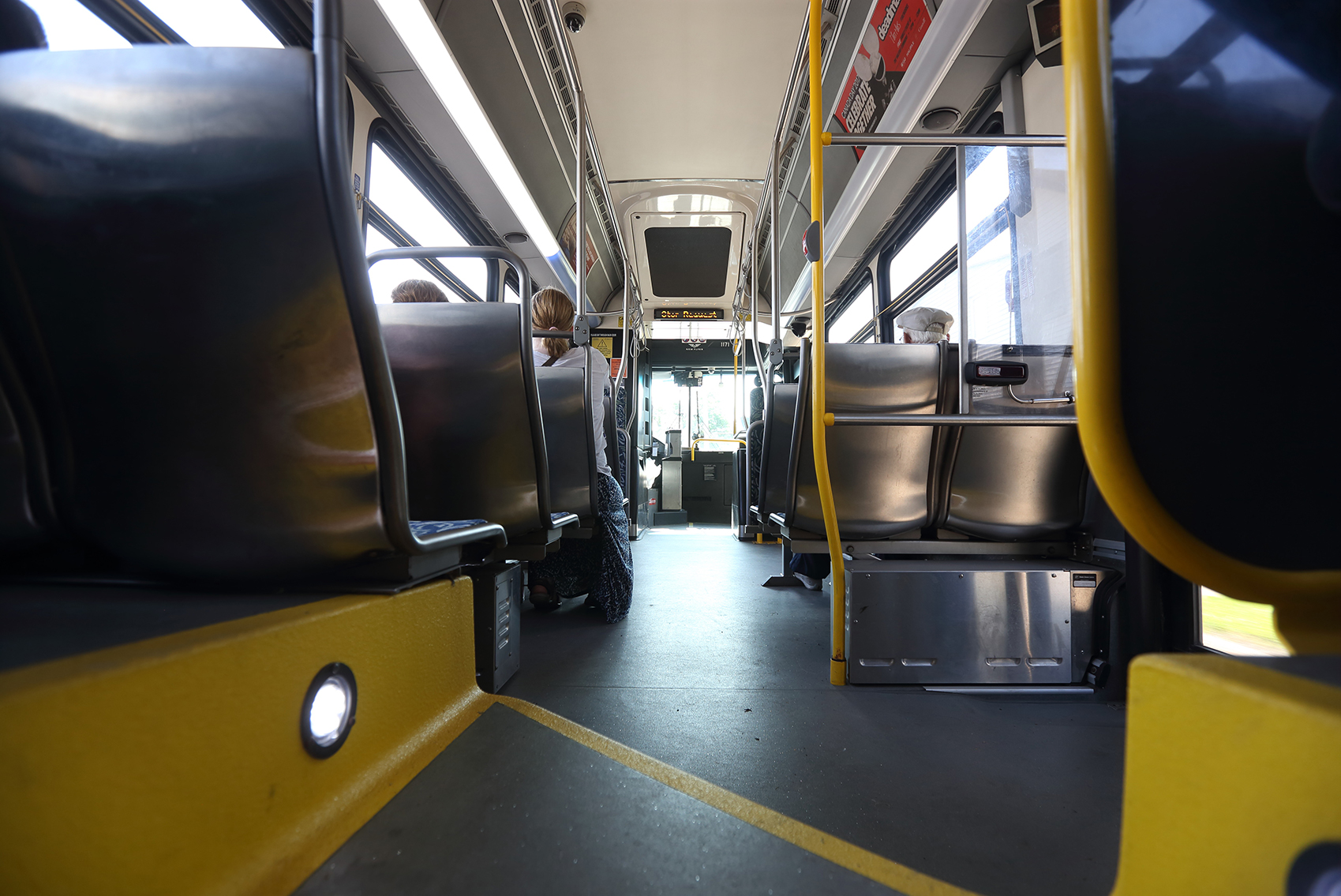 A photo of the inside of a Halifax Transit bus