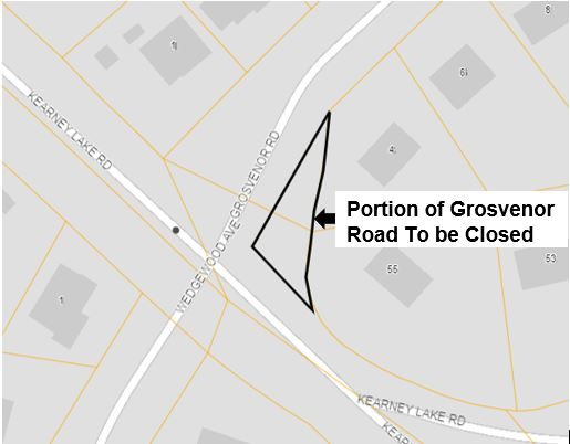Grosvenor Road sketch of section closing