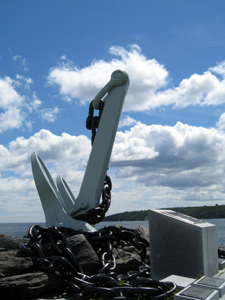 A photo of the HMCS Bonaventure memorial in Point Pleasant Park