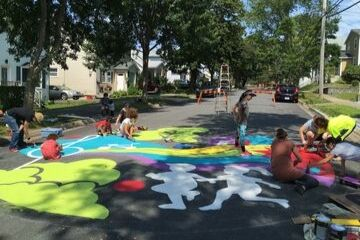 Roslyn Road Street Painting