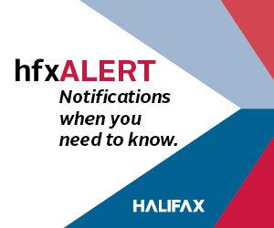 the hfxALERT logo - notifications when you need to know