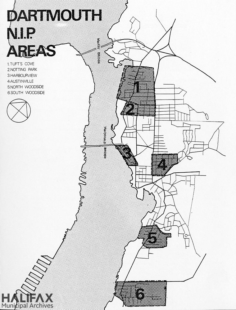 Map of the NIP areas