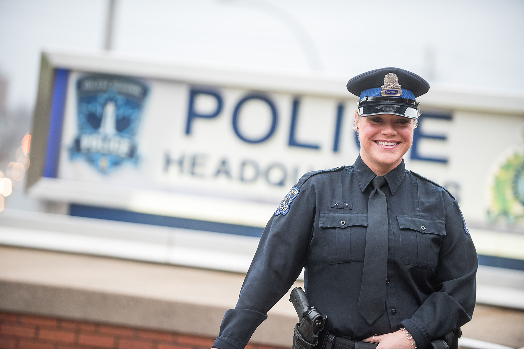 A photo of a female police officer