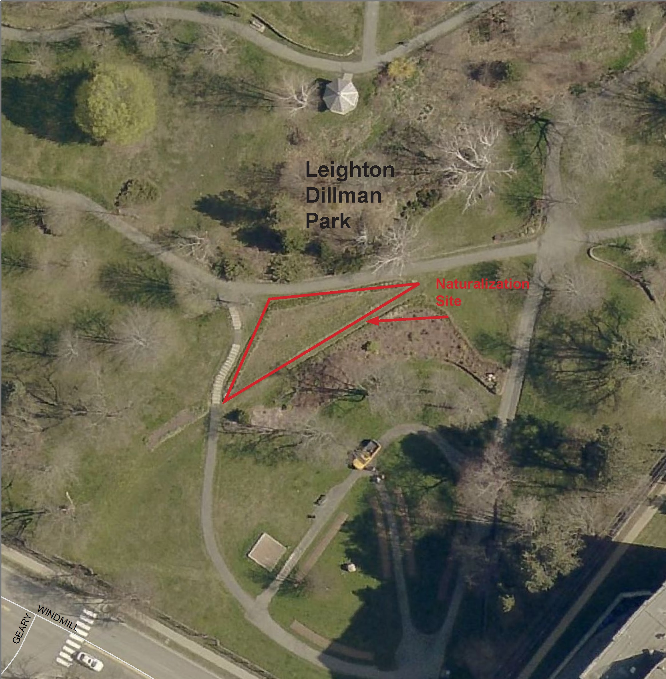 Leighton Dillman Park Location Map