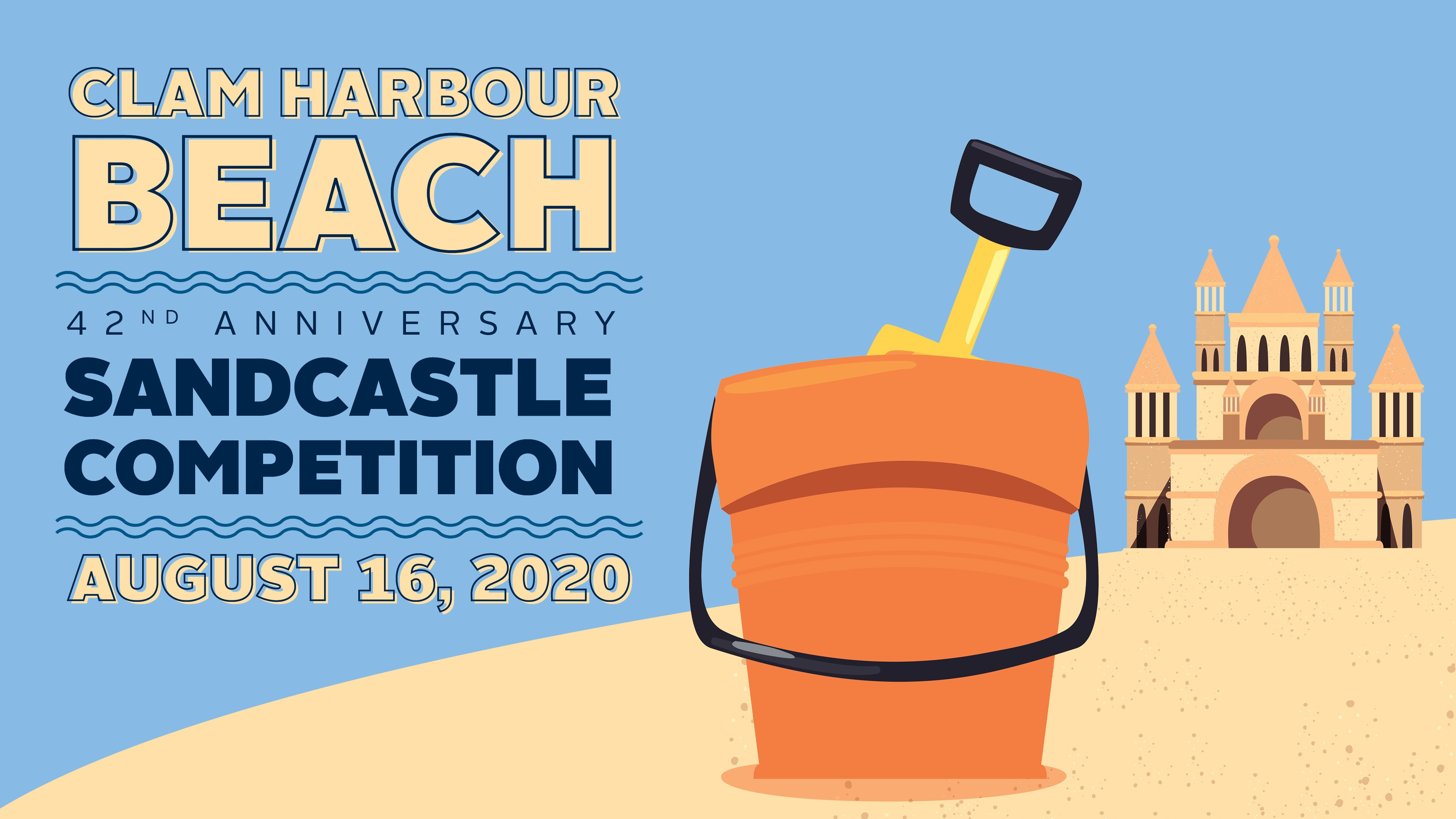Clam Harbour Beach Sandcastle Competition logo graphic