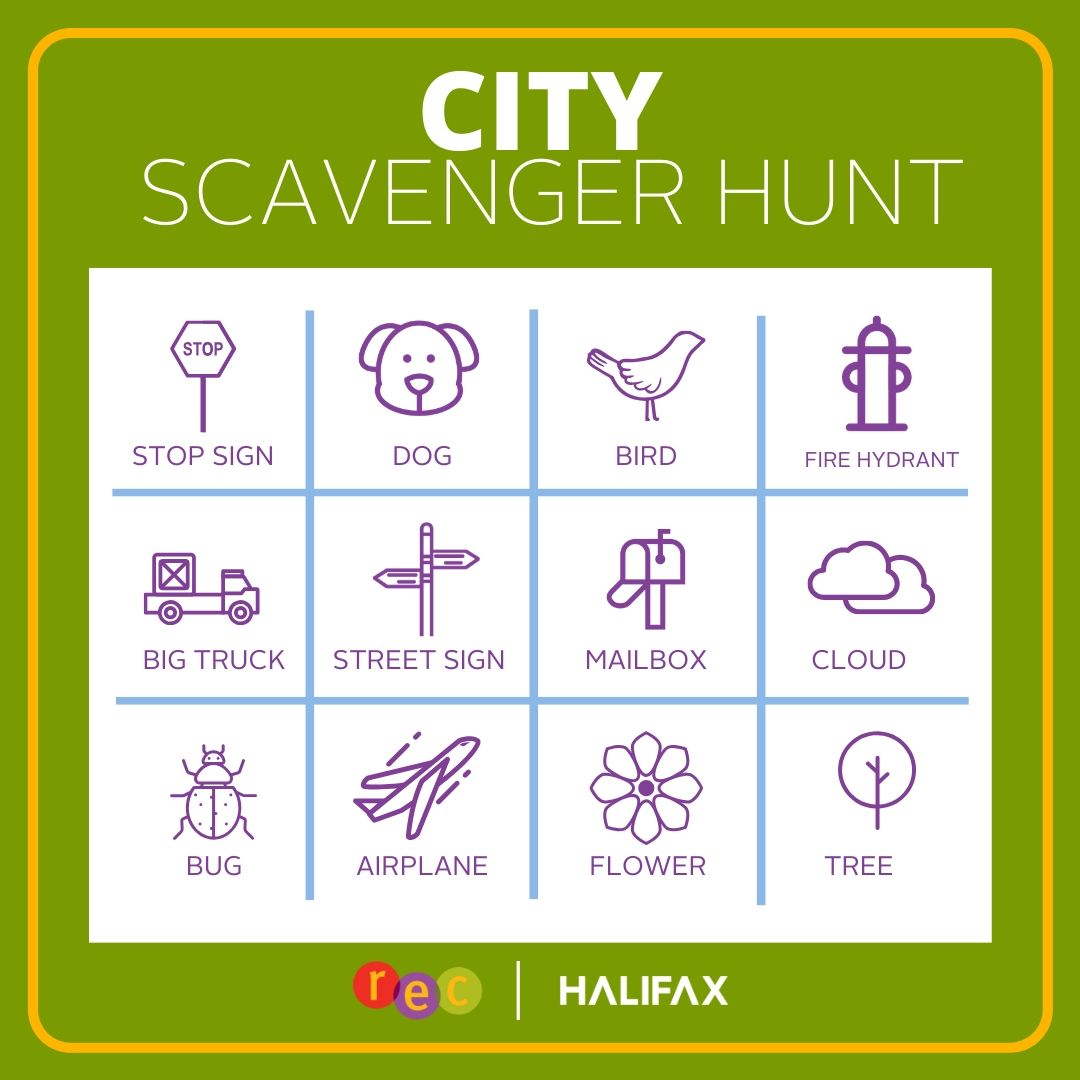 Rec at Home | City Scavenger Hunt
