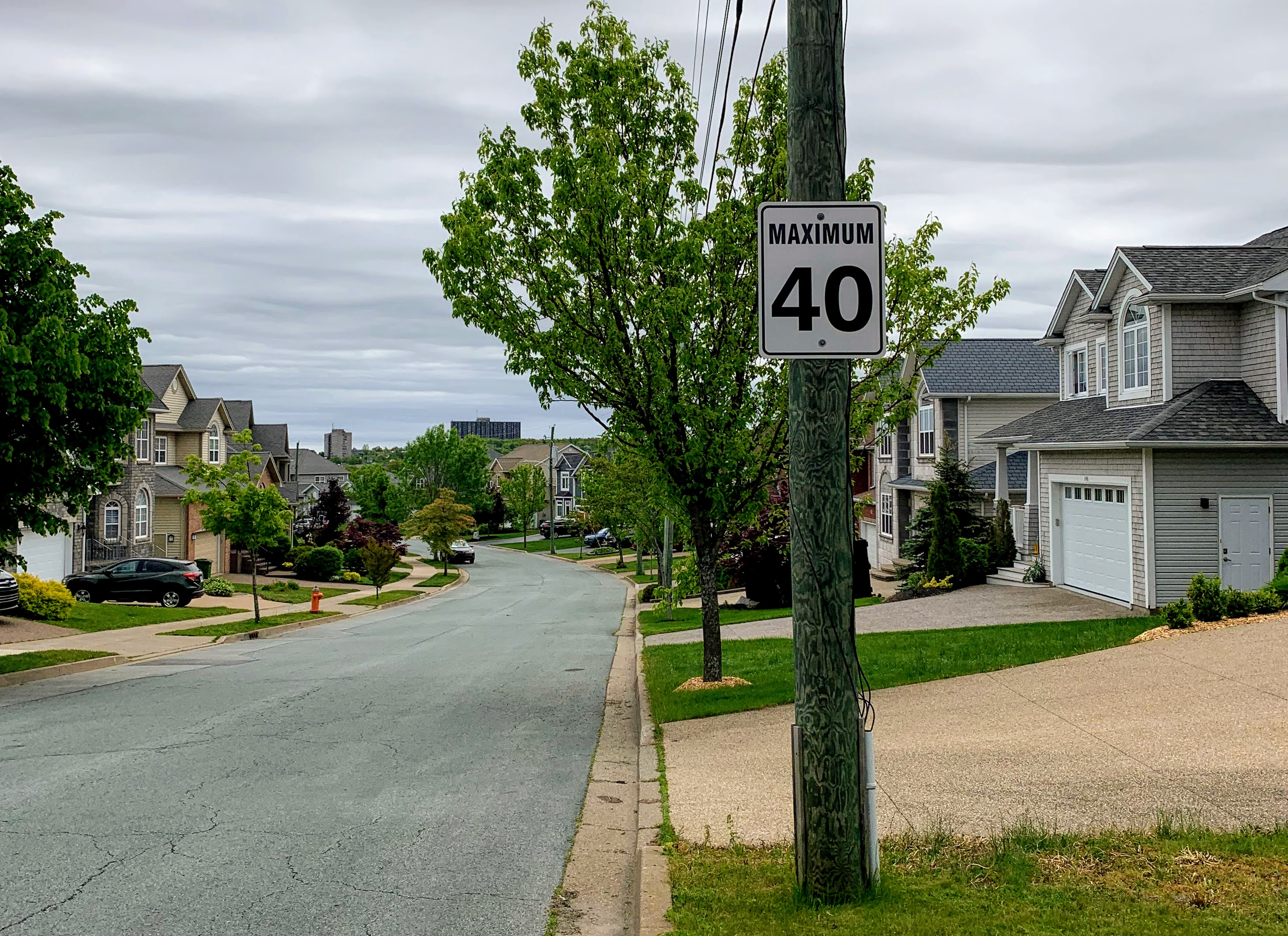 Neighbourhood 40km/h Speed Limit Sign
