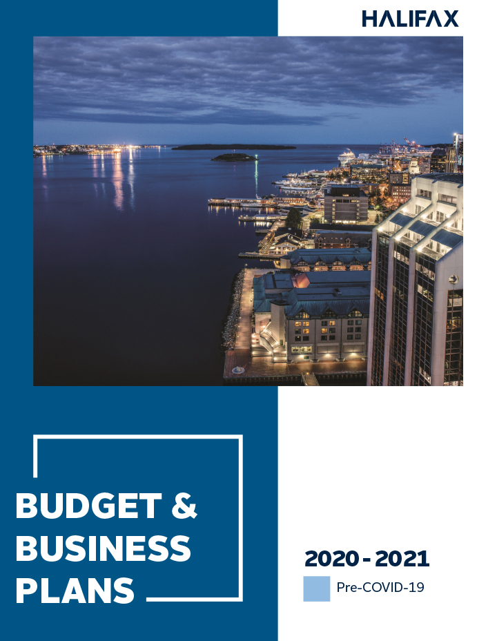 The cover of the 2020-21 Pre-COVID-19 Budget and Business Plans