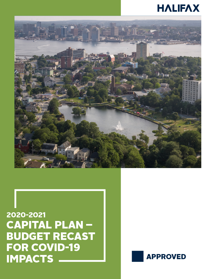 The cover of the 2020-21 Recast Capital Budget