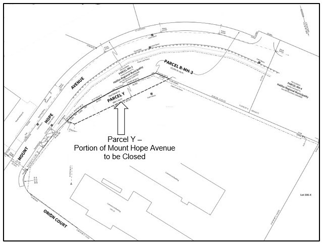 Mount Hope Avenue sketch of section closing