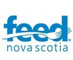 Feed NS logo in blue writing and white background