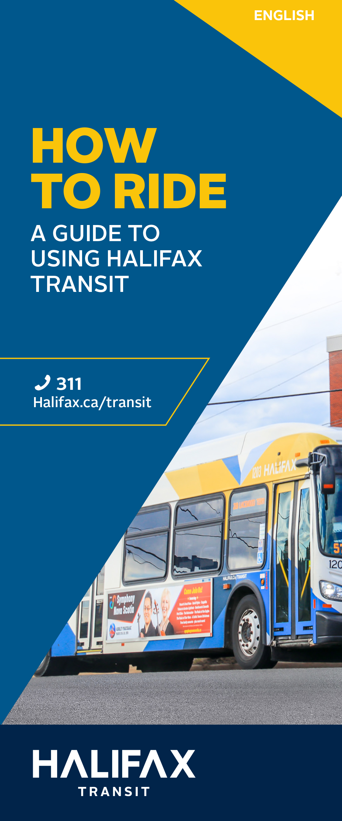 Cover of the How To Ride - A Guide to Using Halifax Transit