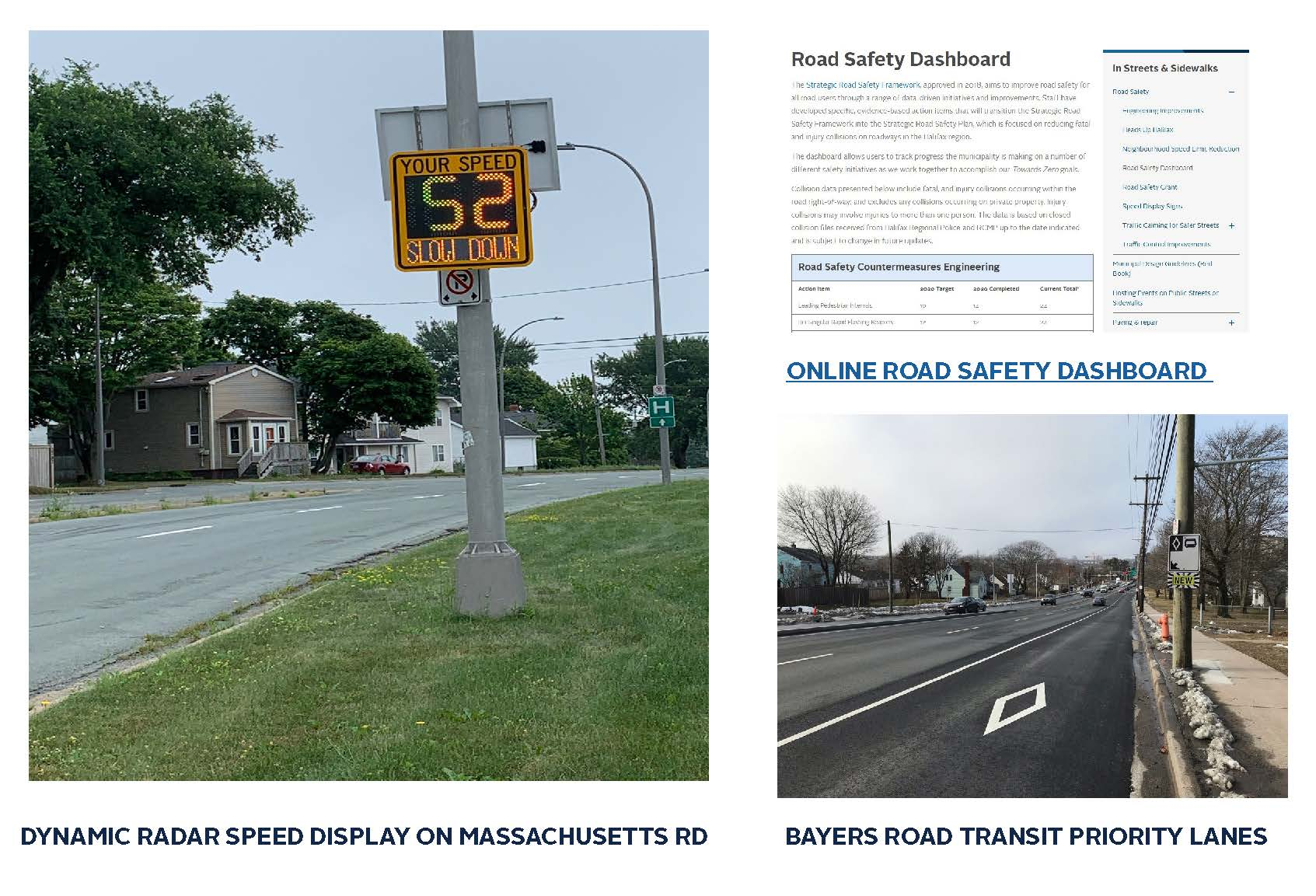 Dynamic Radar, Online Road Safety Dashboard, Bayers Road Transit Priority