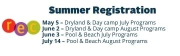 Information regarding summer registration