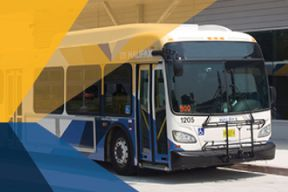 A picture of a bus in front of the Lacewood Terminal