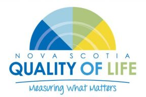 "A graphic of a metre that says ""NS Quality of life survey"""