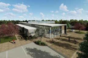 An aerial photo of the proposed St Andrews Community Centre