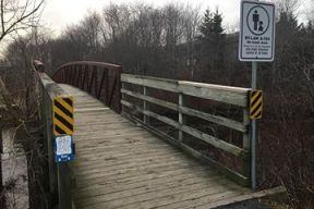 Photo of the entrance of the Bedford-Sackville Greenway Corridor