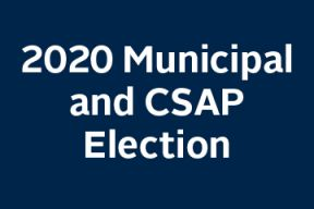 A text block that says 2020 Municipal Election
