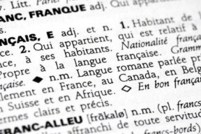 "Definition of ""Francais"" in a dictionary"