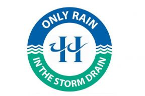 Only rain in the storm drain - Pollution prevention